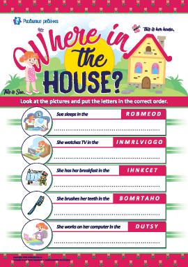 Анаграмма «Комнаты в доме» (английский язык)