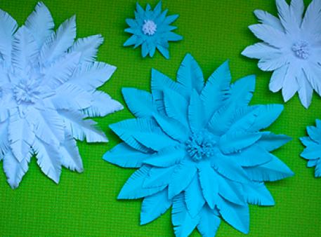 Создайте бумажный цветок всего за 5 минут