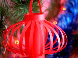 Бумажный фонарик - декорация для дома